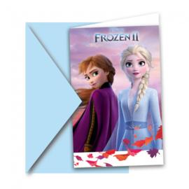Frozen 2 uitnodigingen 6st met enveloppen