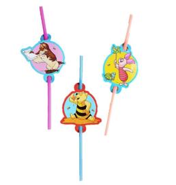Winnie the Pooh rietjes 6 stuks