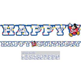 Mickey Mouse letterslinger met eigen leeftijd