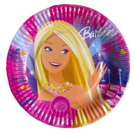 Barbie gebaksborden 8 stuks 18cm