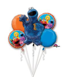 Sesamstraat Koekiemonster ballonnen set 5 stuks