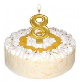 Cijfer acht kaars taart 8 cm
