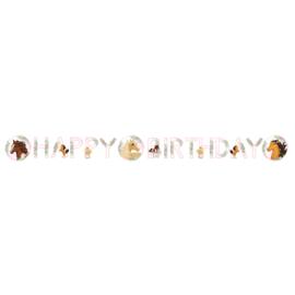 Paard letterslinger Happy Birthday 1,4m