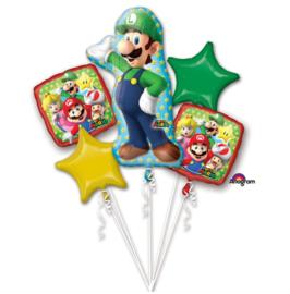 Super Mario Luigi folie ballonnen set 5 stuks