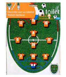 Oranje voetbal decoratie toilet