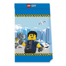 Lego City feestzakjes papier 4st