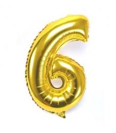 Folie ballon verjaardag 6 jaar