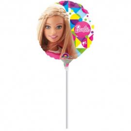 Barbie folie ballon op stok 25cm