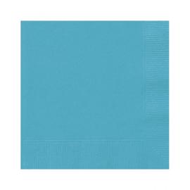 Servetten turquoise 12 stuks