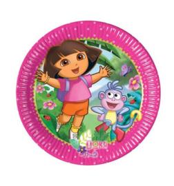Dora the explorer borden 8 stuks 20cm