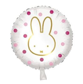 Nijntje folie ballon roze 45cm