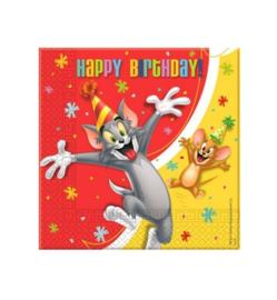 Tom and Jerry servetten 20st 33x33cm