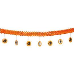 Slinger oranje met onderhangsels voetbal 4m