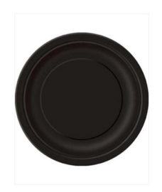 Borden zwart 23cm 8 stuks