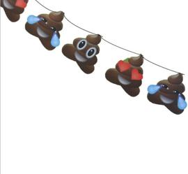 Emoji vlaggenlijn poop 5m