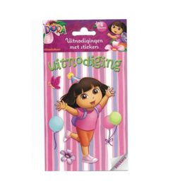 Dora the Explorer uitnodigingen met stickers