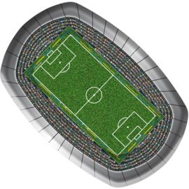 Voetbalstadion borden 8 stuks 18x27cm