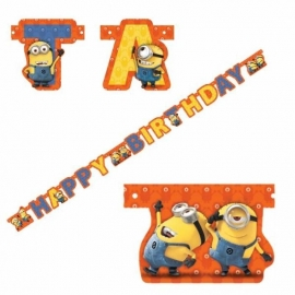 Minions letterslinger Happy Birthday