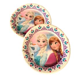 Frozen borden 6 stuks 23cm