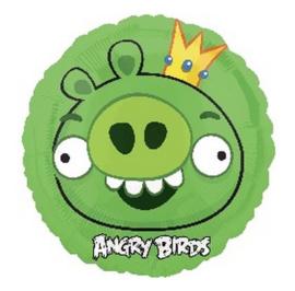 Angry Birds groen folie ballon 45cm
