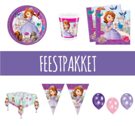 Sofia the first feestpakket 8 personen