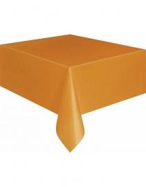 Plastic tafelkleed oranje 130x180cm