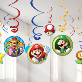 Super Mario hangdecoratie 6 stuks