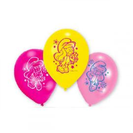 De Smurfen smurfin ballonnen 6st