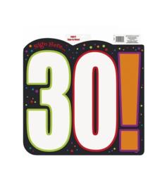 Schild verjaardag 30 jaar