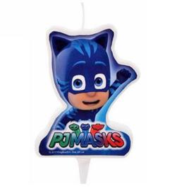 PJ Masks kaars blauw 7cm