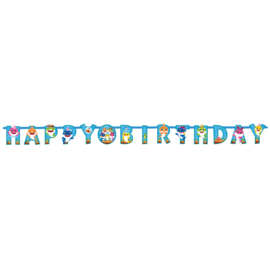 Baby Shark slinger Happy Birthday 2m