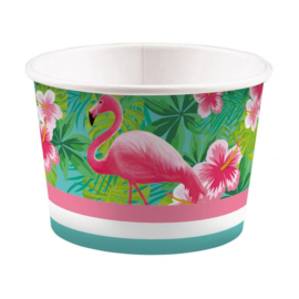 Flamingo ijsbekers 8 stuks 270ml