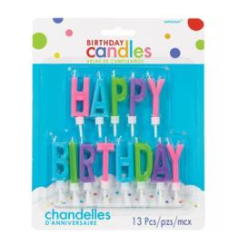 Happy Birthday kaarsjes taart