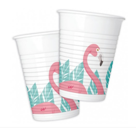 Flamingo bekertjes 8 stuks 200ml