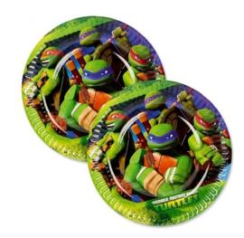 Ninja Turtles borden 8 stuks 18cm
