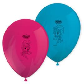 Shimmer and Shine ballonnen 8 stuks