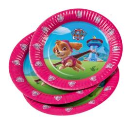 Paw Patrol borden roze 6st 23cm