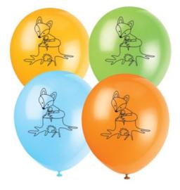 Vos ballonnen 8 stuks 25cm