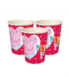 Bekers Peppa Pig 8 stuks