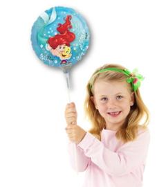 Zeemeermin folieballon op stok 25cm
