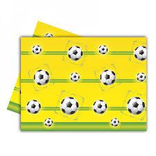 Voetbal tafelkleed plastic 120x180cm