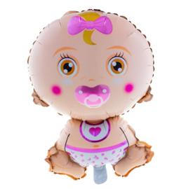 Baby meisje folie ballon 68cm
