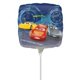 Cars folie ballon op stok 23cm