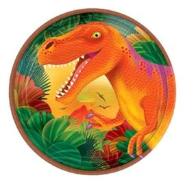 Dino bordjes 8 stuks 18cm