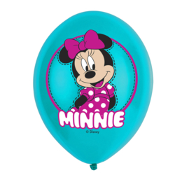 Minnie Mouse ballonnen 6st 27,5cm