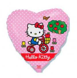 Hello Kitty folie ballon fiets 45cm