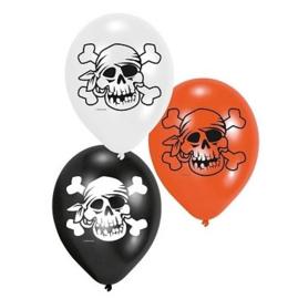 Piraten ballonnen 6 stuks 22,8cm