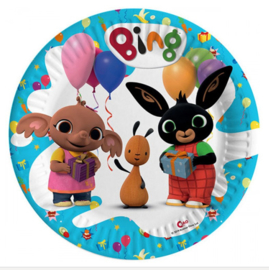 Bing konijn borden 8 stuks 23cm