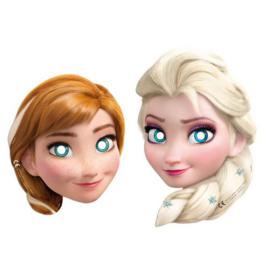 Frozen maskers Anna en Elsa 6 stuks