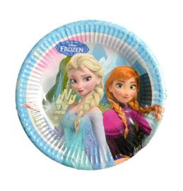 Frozen borden 6 stuks 20cm